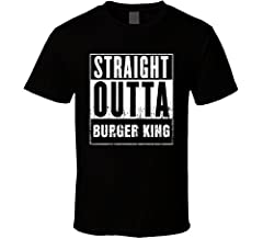This Straight Outta Burger King Movie and Fast Food Parody T Shirt Will Make A Perfect Gift. All Our Shirts Are Printed On High Quality Cotton.
