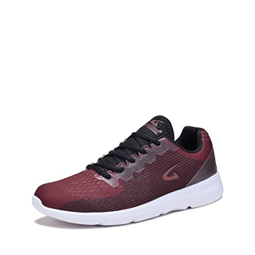 GREENS DreamSeek (6281LM) Fashion Breathable Sneakers Sport Running Shoes-Burgandy 12