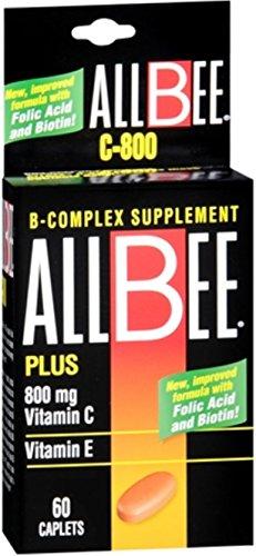 Allbee Caplets C-800 60 Caplets (Pack of 9) ()