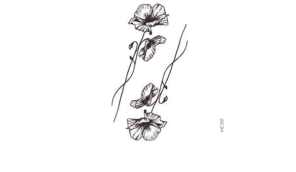 Tatuaje Temporal Flor Amapola tatuaje efímero flor amapola ...