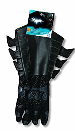 Batman: The Dark Knight Rises: Batman Gloves with Gauntlets, Child Size (Black)