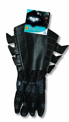 Black Batman Costumes Child (Batman: The Dark Knight Rises: Batman Gloves with Gauntlets, Child Size (Black))