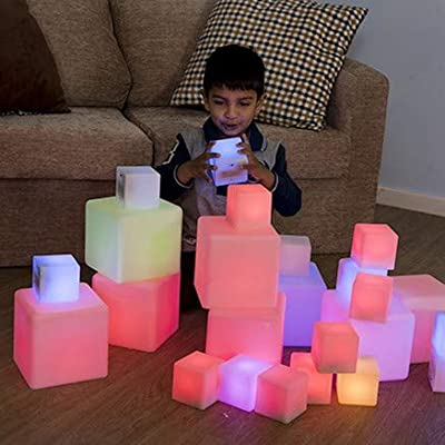 Sensory Construction Blocks and Cube Toys Set for Kids: Toys & Games