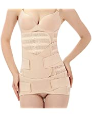 WANYIG magband efter födsel hög elastisk kvinnor 3-i-1 postpartum magband magen magband buk varor postpartum support mesh bra permeabilitet postpartal stöd