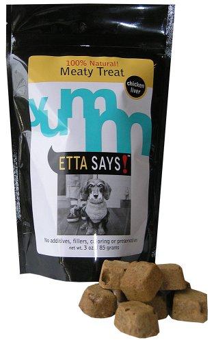 Etta Says! 2.5-Ounce Freeze-Dried Treats, Chicken Liver, My Pet Supplies