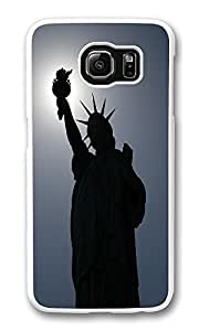 VUTTOO Rugged Samsung Galaxy S6 Case, Dark Lady Liberty Customize Hard Back Case for Samsung Galaxy S6 PC Transparent