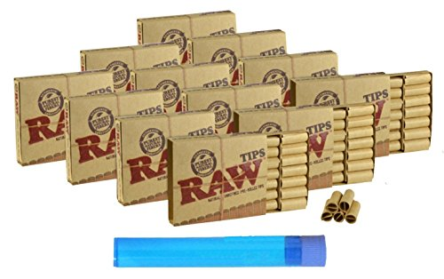 12 Boxes of RAW PRE-ROLLED tips (252 Total PRE-ROLLED Tips) + 1 Beamer Smoke Doob Tube