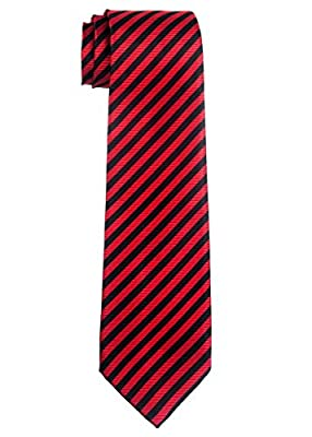 Retreez Striped Woven Microfiber Boy's Tie - 8-10 years - Various Colors