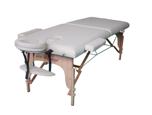 New Cream PU Portable Massage Table w/Free Carry Case U1 Chair Bed Spa Facial