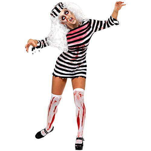 CHN'S Women Halloween Horror Zombie Bloody Clothes Prisoners Cosplay Costume Dress (Zombie Women)