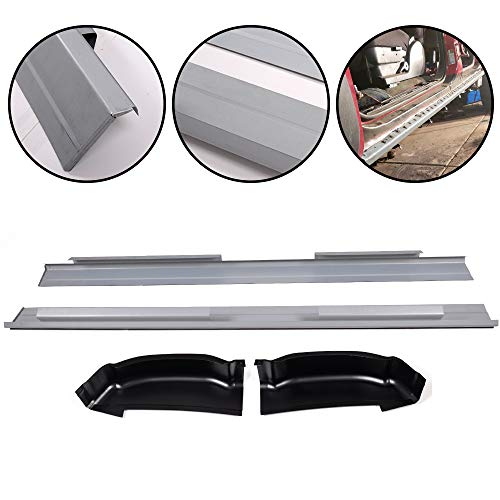 Fit For 2001-2007 Chevy Silverado GMC Sierra Crew Cab 4 Door Rocker Panels Protector And Cab Corners Kit Replacement 1 Pair 2004 2005
