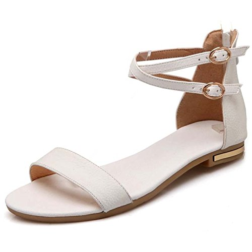 Women Flats Shoes Champagne Shoes vovmi Y0569501F White Black Woman Sandals dqUTWAWFwH