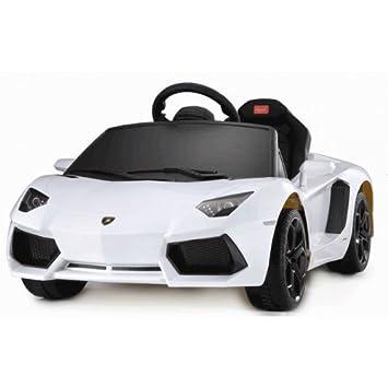 Kids Electric Ride On Lamborghini Aventador White