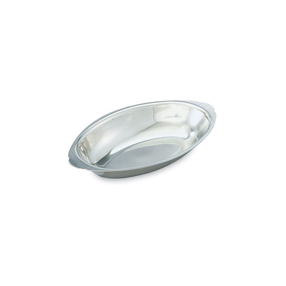 Vollrath 47422 Oval Mirror Finish S/S 12 Ounce Au Gratin Dish