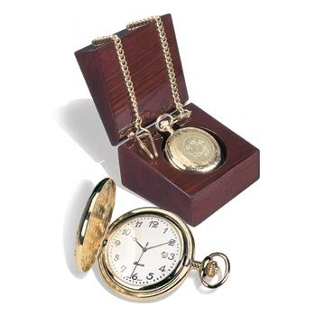 Georgia Tech Yellow Jackets Men's 18K Pocket Watch w/ Presentation Box [Watch] by Alumni Gift