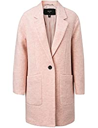 ME&CITY Women's Notch Lapel One Button Wool Coat with Pockets