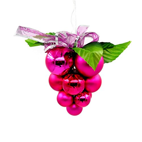 Charlie Brown Costume Pattern (Elevin(TM)2017Christmas Xmas Balls Baubles Party Roof Decorations Hanging Ornament Decor (Hot Pink))