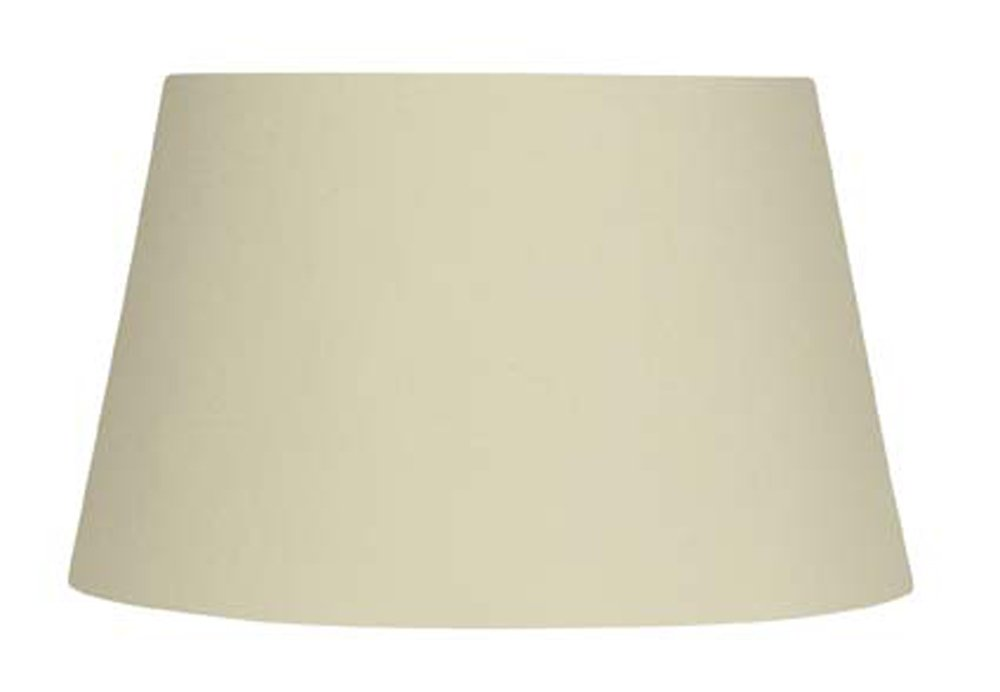 Oaks Lighting - Pantalla cilíndrica para lámpara (algodón), color beige S901/12 CREAM