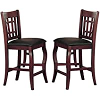 Milton Greens Stars 8718CH Burgos Counter Height Chair, Cherry, Set of 2