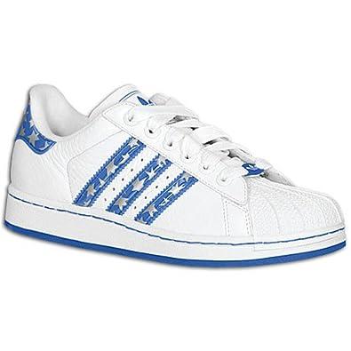 2 Adidas DIR Kid's Superstar Originals ShoeWhiteRoyal kXP8n0wO