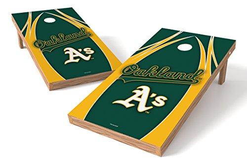 (Wild Sports MLB Oakland Athletics V Design Tailgate Toss XL with Shield, Multi, 48