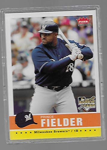 Prince Fielder 2006 Fleer Tradition Baseball Rookie Card #40 - Milwaukee Brewers - Stored in a Protective Plastic Display Case!! ()