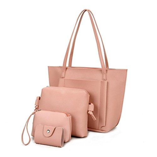 Funie - Bolso mochila para mujer, negro (Negro) - H206P07FC19ZL1ROG8I rosa