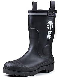 Mens Waterproof Rubber Sole Rain Boots