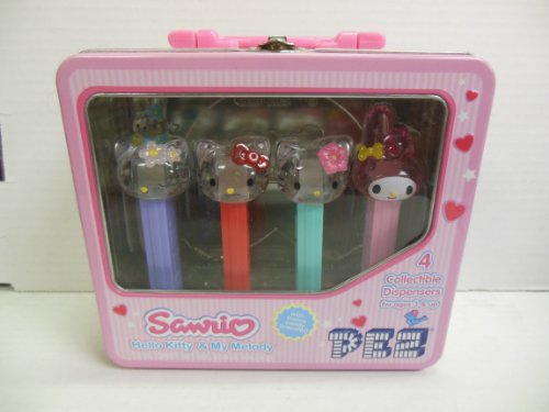 Pez Dispenser Hello Kitty & My Melody Set of 4 Sanario 073621009158 by PEZ Candy