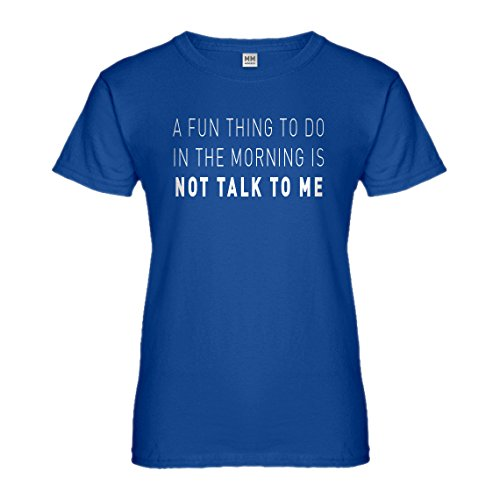 Womens Not Talk to Me Large Royal Blue - 3119 Rb