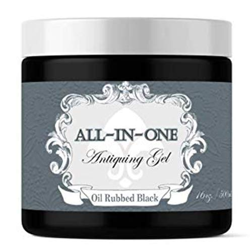 Oil Rubbed Black, Antiquing Gel (Thick Glaze with built in Top Coat) (16oz)