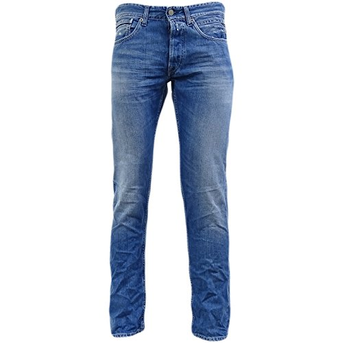 Replay Blue Grover Tapered Leg Jean/Denim Pants - Ma972-12C-957-010 34/34