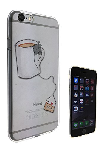 c0301 - Cool Cute fun tea lovers i love tea teabag drink doodle Design iphone 5 5S Fashion Trend Protecteur Coque Gel Rubber Silicone protection Case Coque