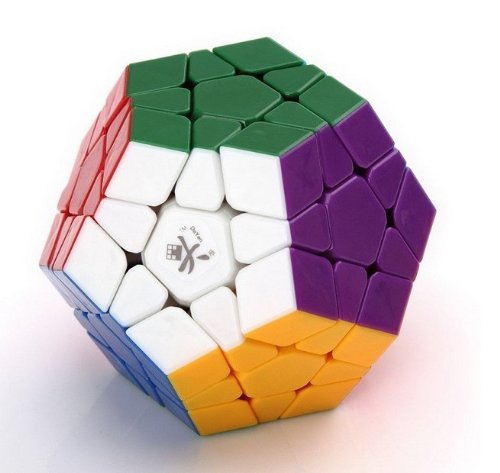 Dayan Megaminx Stickerless 12Color Puzzle Speed Cube