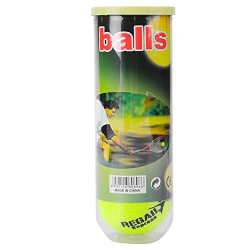 Tennis Ball,3Pcs High Resilience Durable Rubber Tennis Ball for Tennis Practice Training by T-best