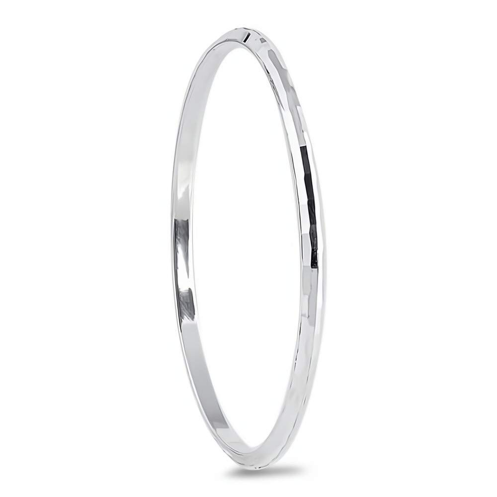 Jewelry for Women and Girls Glitzs Jewels 925 Sterling Silver Bangle Bracelet