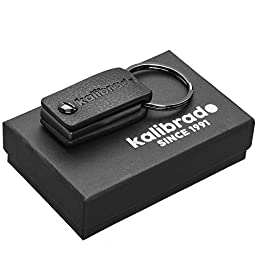 Leather Keychain for Men or Women from Designer Kalibrado with Detachable Key Fob, Holder for Belt, Black Ring and Snap Hook Chain, Best for Car, Valet, Home or Office Keys, Enhance Your Style Now!