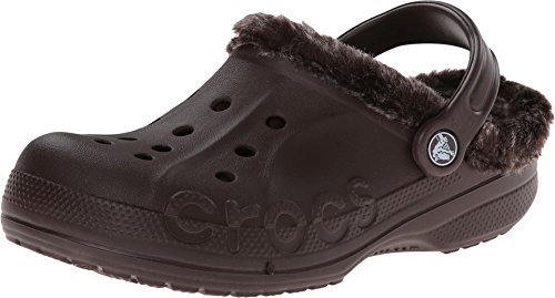 Crocs Unisex Baya Heathered Lined Clog Mahogany/Mahogany Clog/Mule Men's 7, Women's 9 Medium