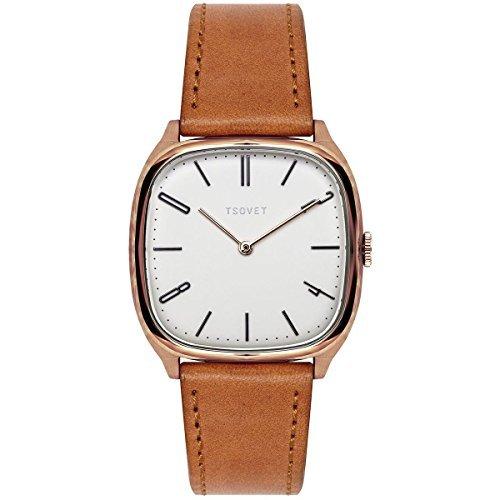 Tsovet JPT-TW35 Watch - Women's Rose Gold/White/Black-Tan, One Size