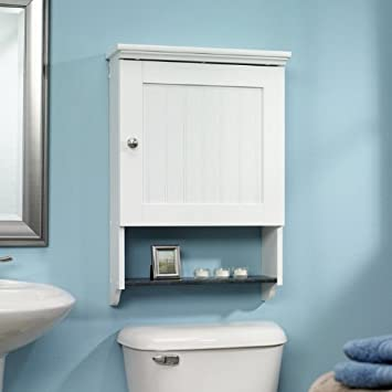 bathroom storage wall cabinet with towel bar tall cabinets mounted soft white finish mirror