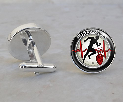 Kinesiology Sterling Silver Cufflinks