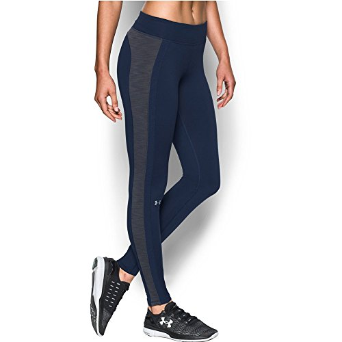 Under Armour Women's ColdGear Legging, Midnight Navy/Carbon Heather, X-Small