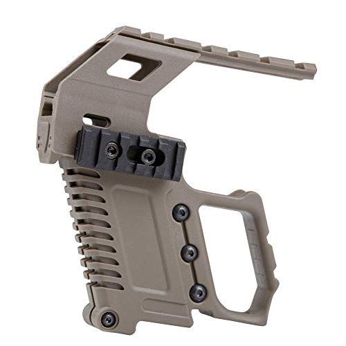 (LEJUNJIE Tactical Area Pistol Toy Carbines Kit Installation W/Rail Panel ABS for Glock G17 G18 G19 GBB Series Loading Accessories)