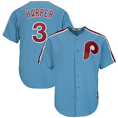 ia Phillies Bryce Harper Cool Base Player Jersey (Blue, M) ()
