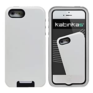 Katinkas USA 2108054189 Hard Cover for iPhone 5 - Stand Shell -1 Pack - Retail Packaging - White