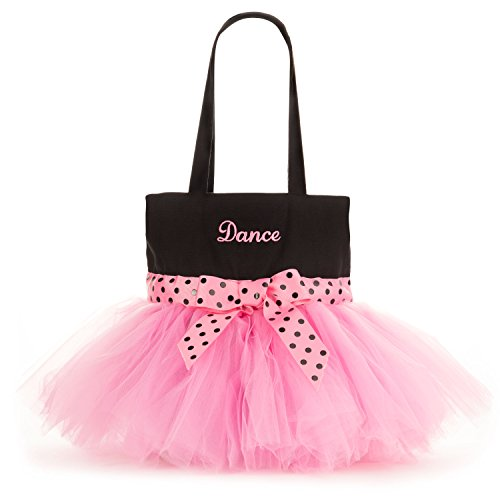 Pardao Cute Dance Bag for Little Girls - Ballerina Tutu Bag for Kids - Small Ballet Shoe Tote (Barbie Ballerina Slippers)