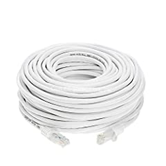 "Ideal for use with 10 Base-T, and 100 Base-T networks - This CAT-5e patch cable has two RJ-45 male to male connectors and features 50-micron gold plated connectors which ensure a clean and clear transmission.       Cat 5e (the ""..."