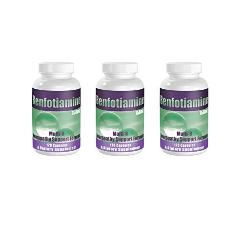 Fresh from Manufacturer! Benfotiamine Multi-B Neuropathy Support Formula 150 mg, 120 caps - 3 Pack