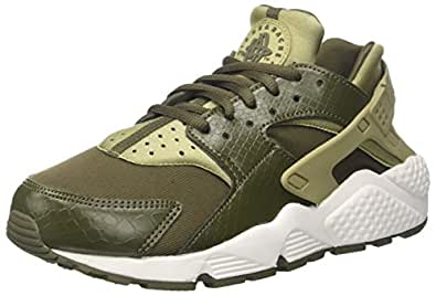 Nike Women's Air Huarache Run Trainers Shoes, Green (Neutral Olive/Cargo Khaki-Summit White), 9 US (40 1/2 EU)