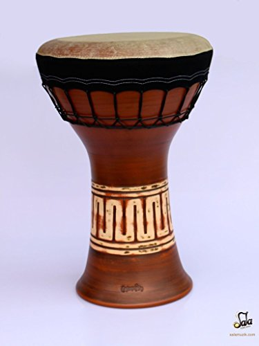 Professional Clay Ceramic Solo Darbuka Drum By Emin Percussion EP-004-A by Emin